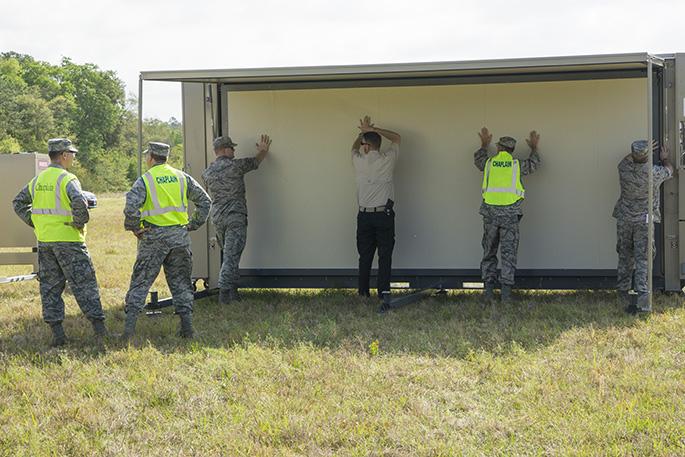 GA Vigilant Guard 2017 - FORTS Portable Building Setup