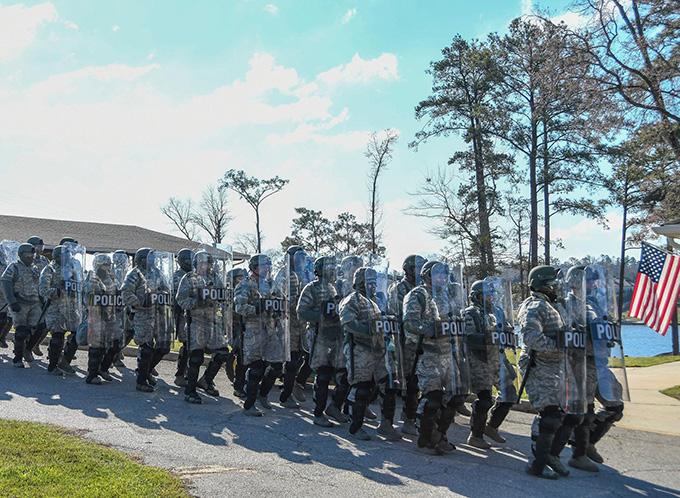 Vigilant Guard Georgia 2017 crowd control exercise